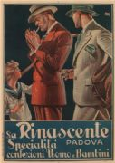 Vintage Italian Fashion Advertising Poster